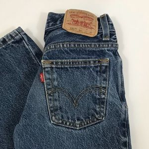 Levi's Bottoms - Vintage Levi's 550 kids jeans size 8 relaxed fit